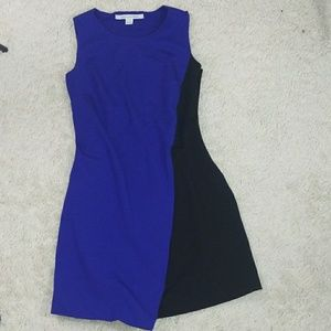 NWOT Dian Von Furstenberg color block fitted dress